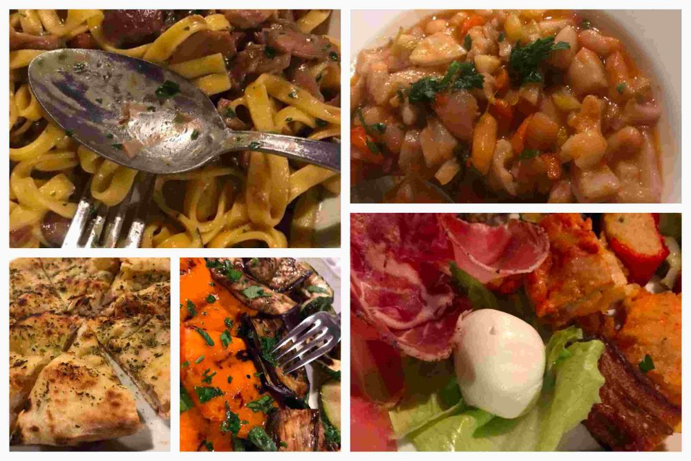 La Starza - antipasto misto, cotica e fagioli, focaccia, tagliatelle ai funghi, verdure grigliate