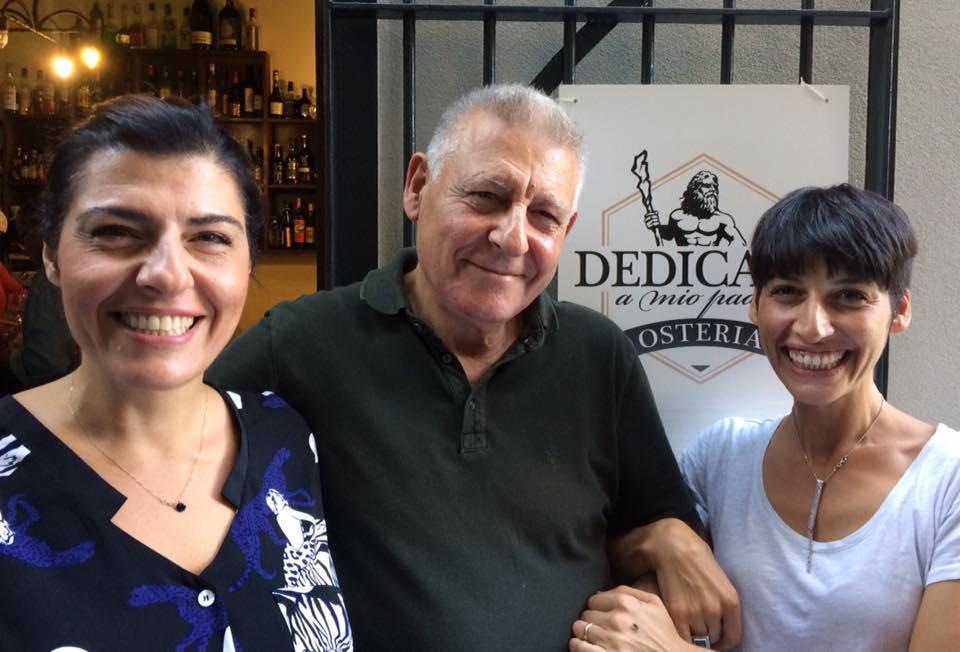 Raimondo Piombino con le figlie Maria e Emanuela