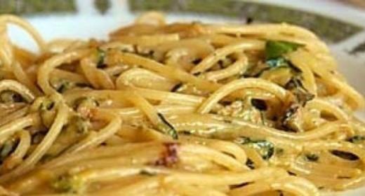 Spaghetti con le zucchine di Nerano