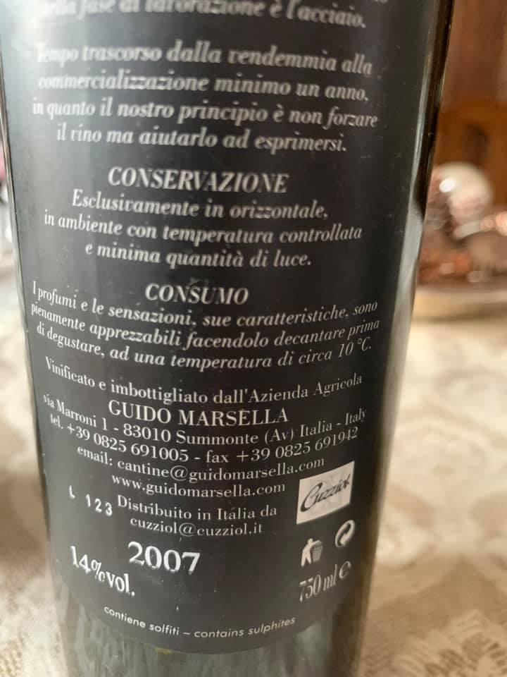 Marsella 2007 Fiano di Avellino