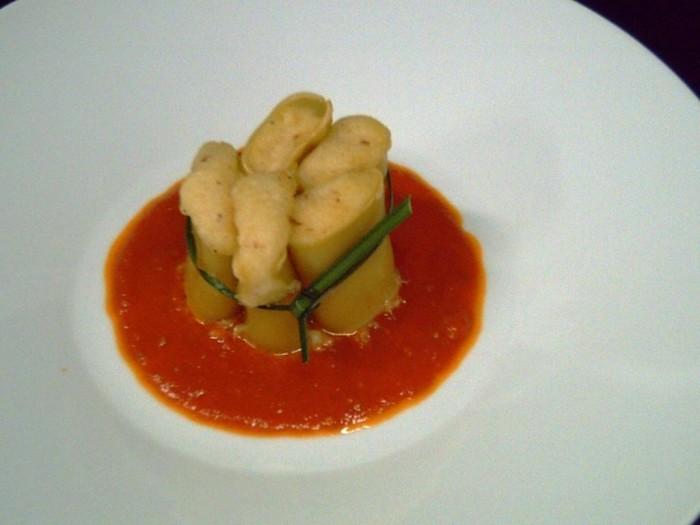 Paccheri di Gragnano ripieni di baccalà mantecato