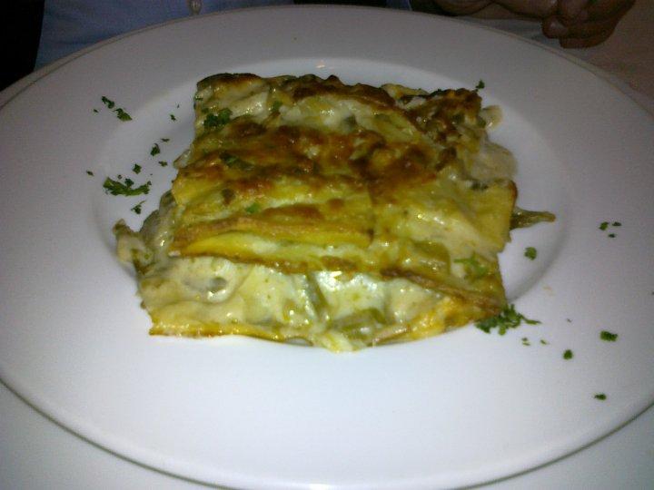 Osteria di San Cesareo, lasagnetta verde