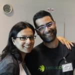 Gli amici Filippo Ronco (patron dell'iniziativa) e Sandra Salerno (Un Tocco di zenzero)