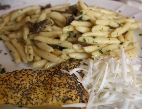 La pasta con il tartufo nero