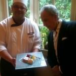 Lorenzo Viani e lo chef Gioacchino Pontrelli