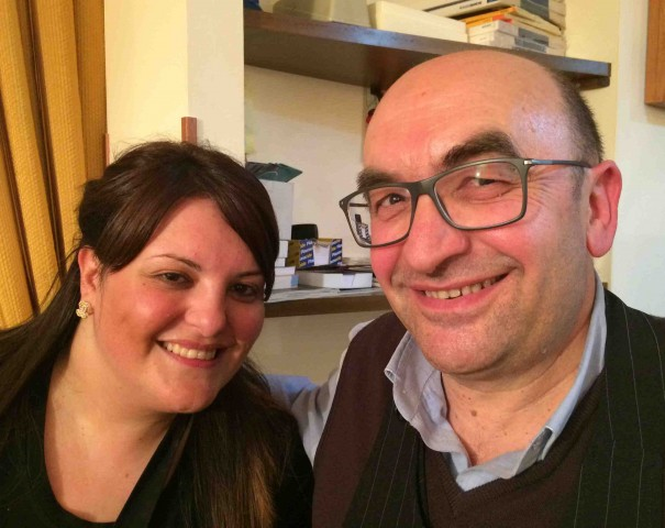Giovanni Positano con la figlia Rosa
