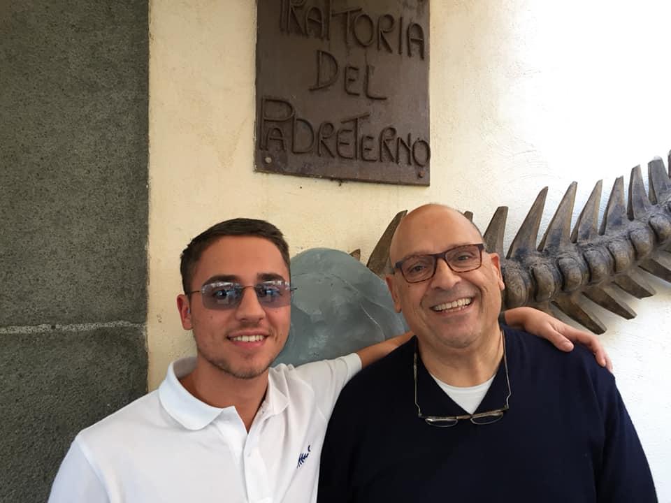 Ciro Napoletano con il figlio Francesco