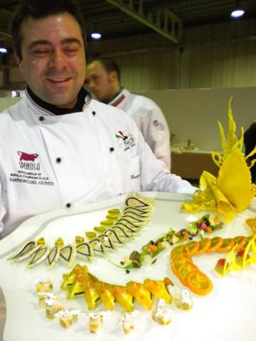Giuseppe Di Gioia presenta il piatto Medaglia d'Oro