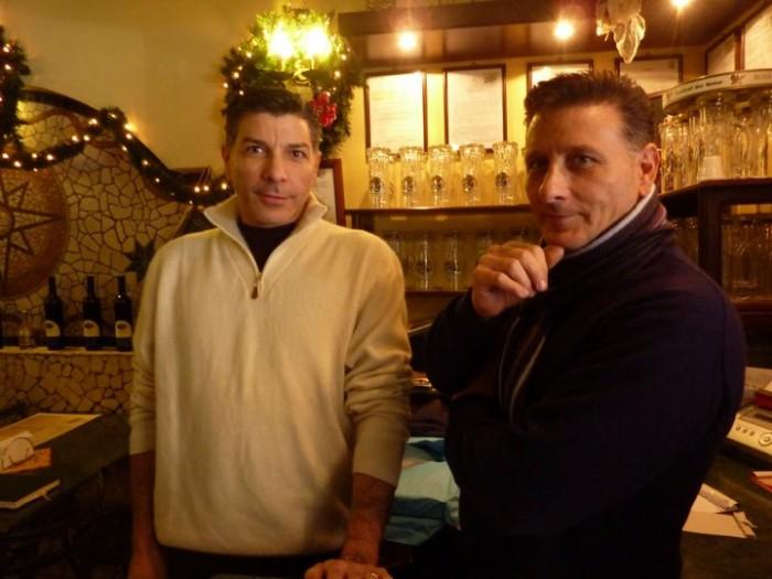 Pizzeria Pellone, i fratelli Franco e Mimmo De Luca  - foto m.p.