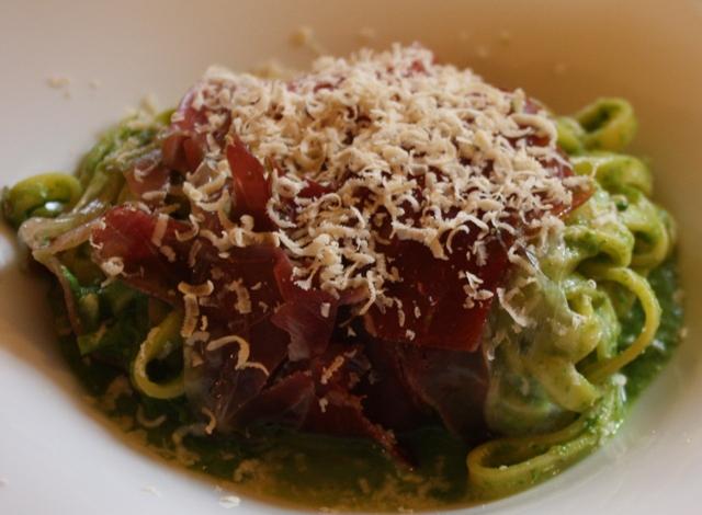 Tagliolini al pesto di broccoli