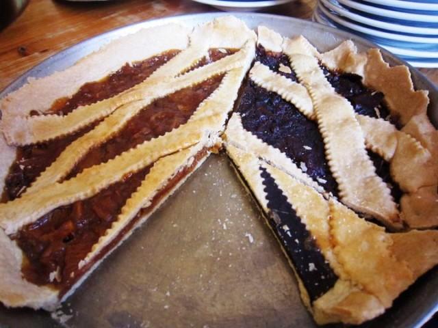 crosta di arance amare e crostata al cioccolato fondente