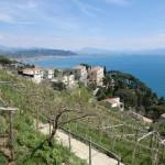 Vigne di Raito, villa Guariglia, Salerno e i monti Alburni