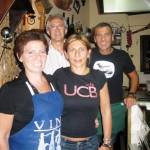 La famiglia Pareres, da dx, Bernardo Patron e Chef , sua moglia Gabriella, sua sorella Rosy e il cognato Gianni