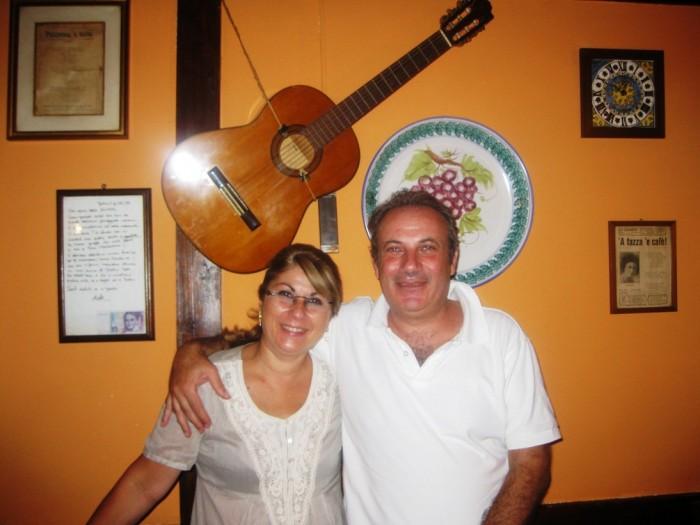 Giuseppe Maiorano con la moglie Annamaria, per gli amici e clienti abituali: Peppino e Nanà