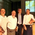 Ciccio Sultano, Antonello Colonna, Riccardo Felicetti e Mauro Uliassi (FotoPigna)