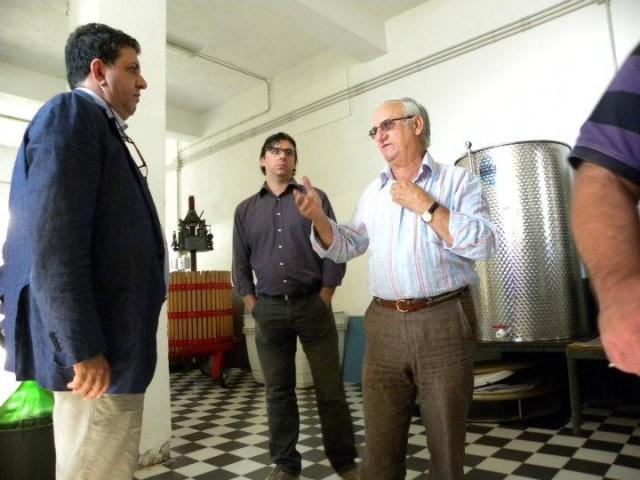Luciano con il professore Luigi Viola