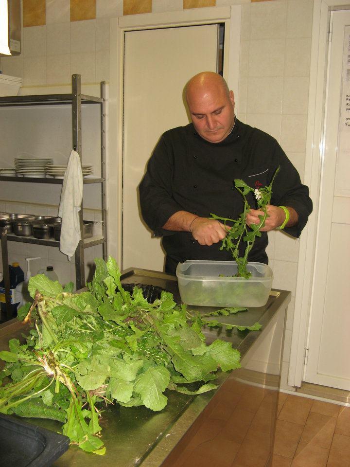 Pietro Zito in cucina