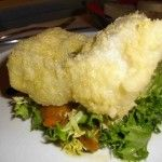 Motus, baccalà dorato e fritto