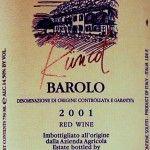 Barolo Runcot 2001 Elio Grasso