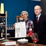 da sx Leandro Luppi chef e vincitore Cantina Caorsa di Affi (Verona) (direttore Pier Giuseppe Crestani