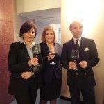 da sx, Fabiola Casullo e i titolari dell'Hotel De La Ville