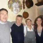 Taverna Mari: ritratto di famiglia: Fabrizio, papà Enzo, la signora Iole e Federica