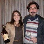 L'enologo Fortunato Sebastiano con Alessia Canarino, Marketing Villa Raiano