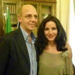 Monica Piscitelli con Franco Pepe - foto m.p.
