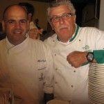 Alfonso Caputo chef della Taverna del Capitano di Marina del Cantone e Alfonso Iaccarino del Don Alfonso di Sant'Agata sui Due Golfi