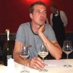Luca Ferraro e i suoi vini alla Spezia (foto Luisella Vattuone)