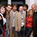 da sinistra: la vincitrice Angelica Lubian, Filippo Graziani, Andrea Scanzi, l'ufficio stampa Maurizio Quattrini, Duccio Pasqua, Anna Bischi Graziani ed Eugenio Finardi