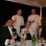 Paul Vranken, Annie Feolde, Ermanno Zanini con Andra Migliaccio e Italo Bassi chef Enoteca Pinchiorri