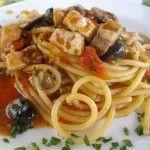 Spaghettoni Vicidomini con pesce spada
