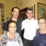 Da sx, Mario Pellegrino con lo chef Giuseppe Amato e le signore Maria Grazie e Angela