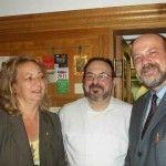 I fratelli Francesco ed Elio Mariani con la signora Marina