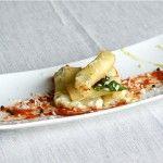 Maccheroni ripieni con mozzarella di bufala e pomodoro San Marzano