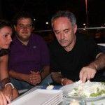 Marianna Vitale, Gennaro Esposito e Ferran Adrià a Bacoli con la mozzarella di bufala dop di Raffaele Barlotti