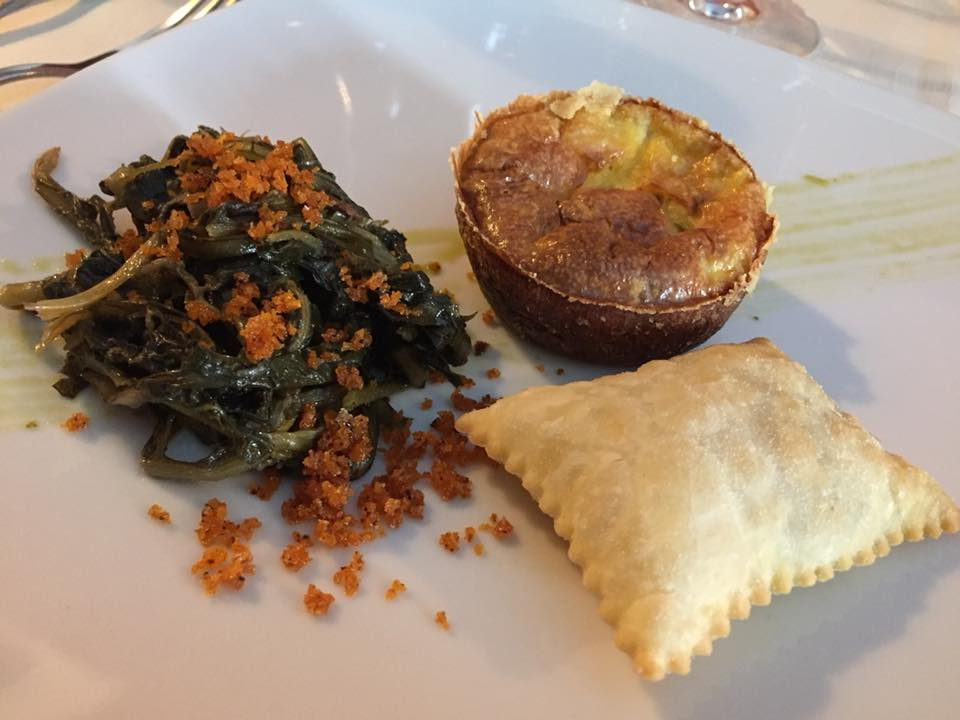 La Piazzetta, antipasto con verdure ed erbe spontanee