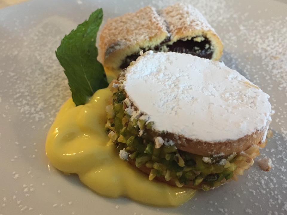 La Piazzetta, deliziosa al pistacchio, crema e murzillo