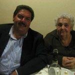 Paolo Sorrentino e nonna Benigna, colei che ha dato origine all'attività e che pigiava per d'avvero l'uva con i piedi per fare il vino