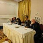 Da sinistra: Luigi Maffini, Maria sarnataro (delegata Ais Cilento), Luciano Pignataro e il presidente dell'Enoteca provinciale di Salerno Ferdinando Cappuccio