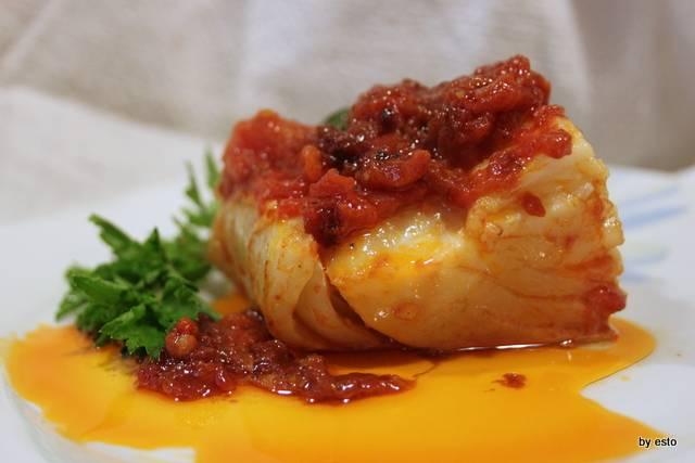 Filetto di stoccafisso al pomodoro, curuniello a' cassuola - Luciano ...
