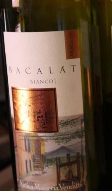 L'etichetta del Bacalat