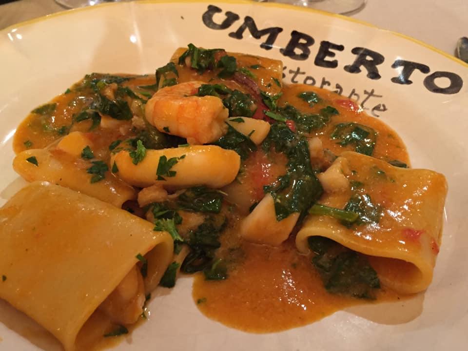 da Umberto, paccheri di mare con friarielli