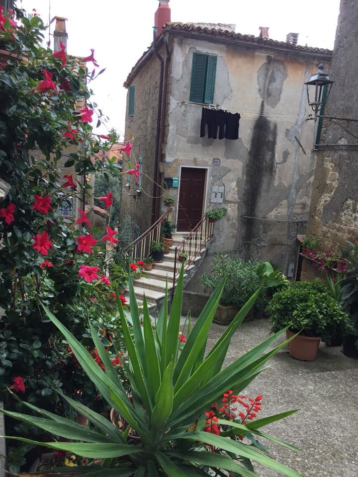Farnese, vicoletto fiorito accanto all'Osteria