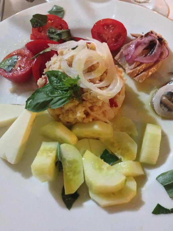 Osteria Piazzetta del Sole, la panzanella scomposta