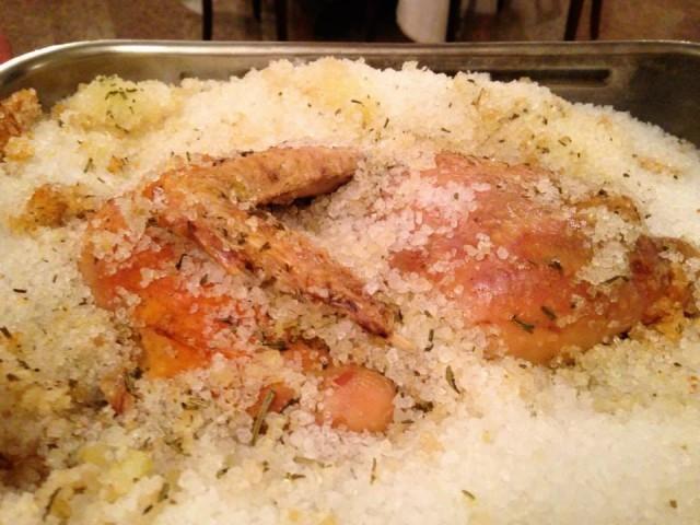 Zunica, pollo sotto sale