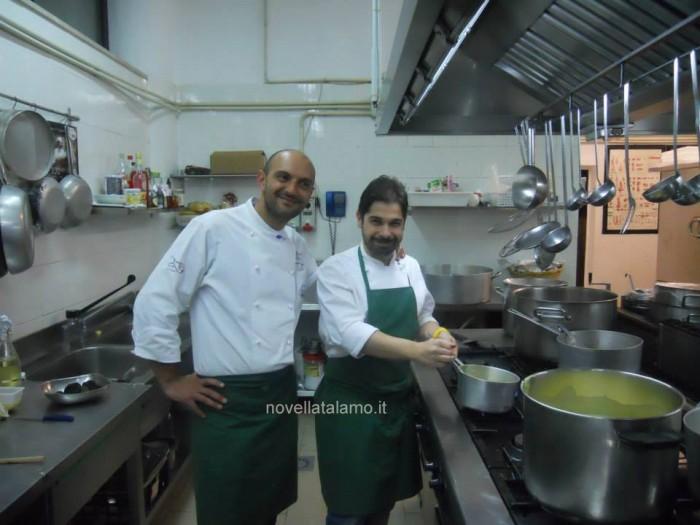 Da sinistra: Tommaso Morone del ristorante Panorama di Caggiano e Cristian Torsiello dell'Osteria Arbustico di Valva