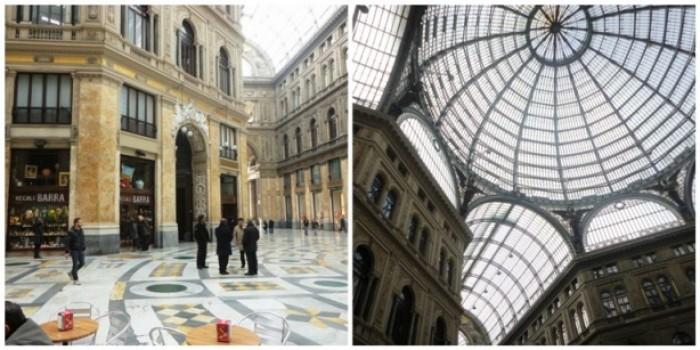 Galleria Umberto I, l'interno e la cupola