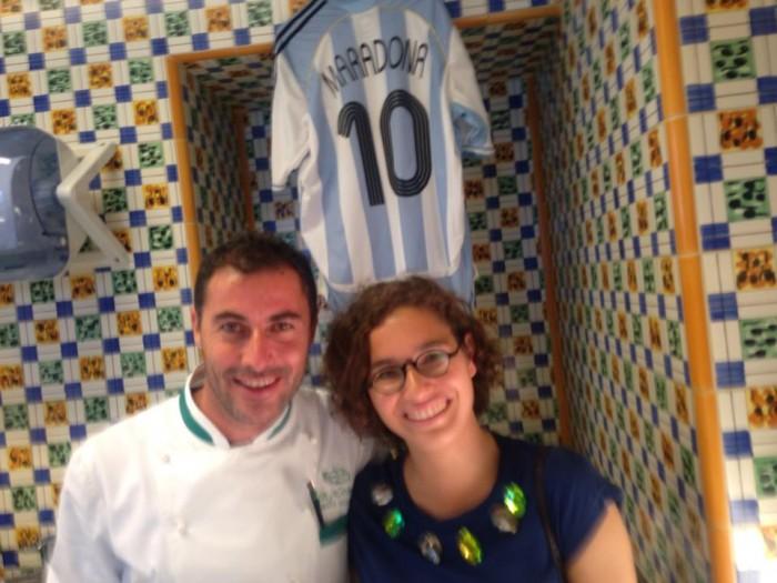 Olivia Vachon con Ernesto Iaccarino in cucina: si tifa Argentina:-)